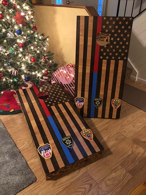 Police and Fireman Cornhole Boards